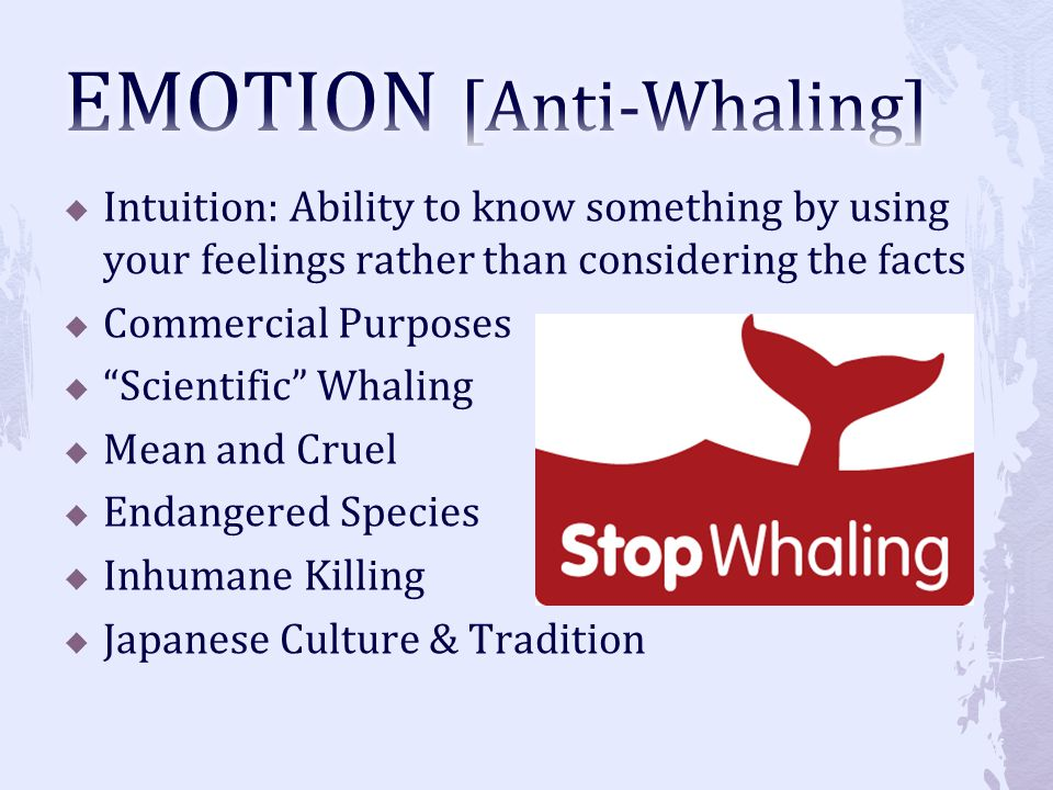 EMOTION [Anti-Whaling]